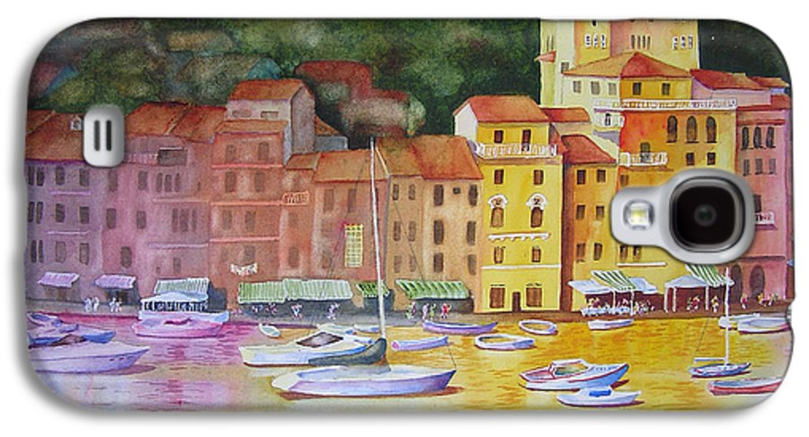 Italy Galaxy S4 Case featuring the painting Portofino Afternoon by Karen Stark