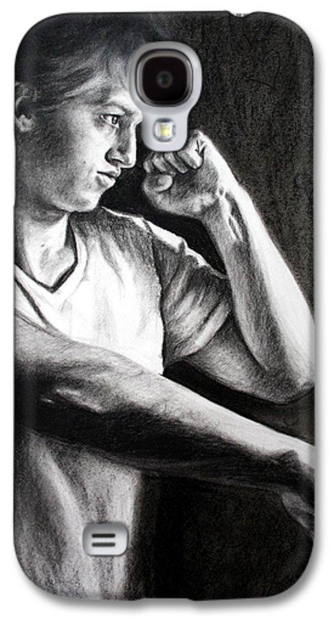 Portrait Galaxy S4 Case featuring the drawing Portrait by Maryn Crawford