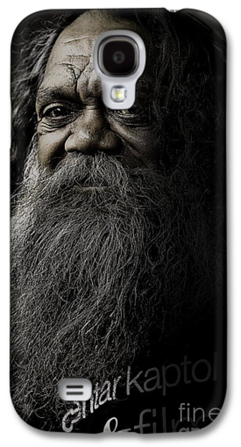 Aboriginal Galaxy S4 Case featuring the photograph Portrait Of Cedric by Sheila Smart Fine Art Photography