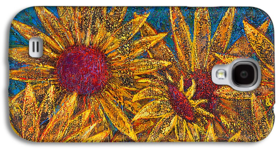 Flowers Galaxy S4 Case featuring the painting Positivity by Oscar Ortiz