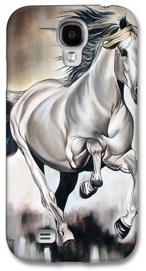 Horse Galaxy S4 Case featuring the painting Power by Ilse Kleyn
