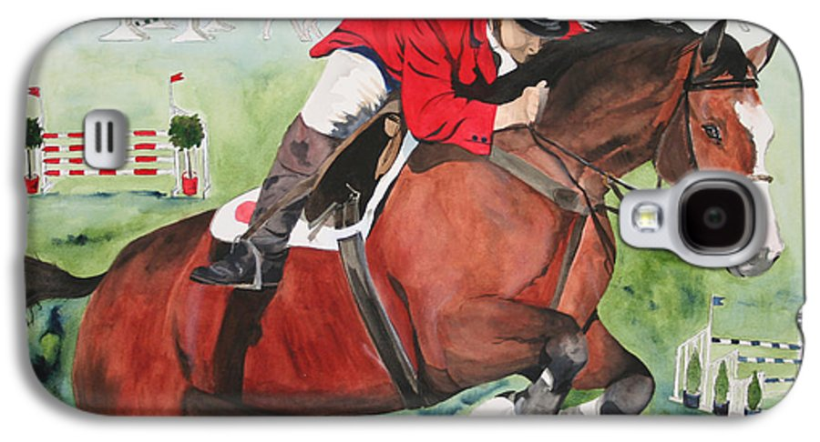 Horse Galaxy S4 Case featuring the painting Practice Makes Perfect by Jean Blackmer