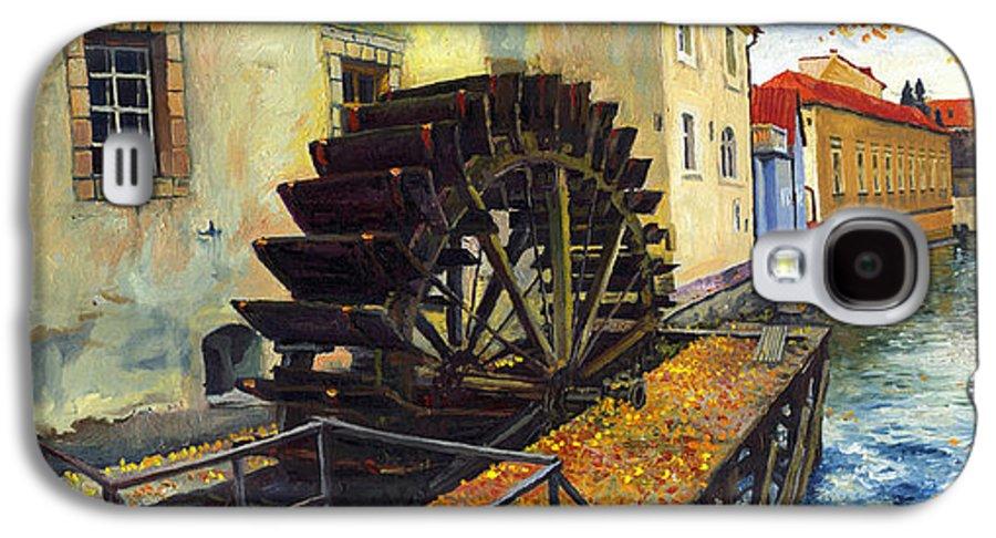 Prague Galaxy S4 Case featuring the painting Prague Chertovka by Yuriy Shevchuk