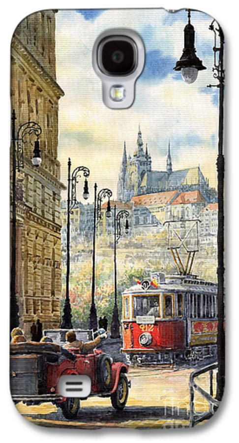 Architecture Galaxy S4 Case featuring the painting Prague Kaprova Street by Yuriy Shevchuk