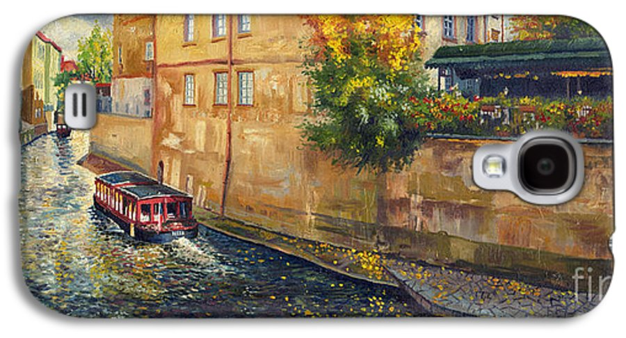 Oil.prague Galaxy S4 Case featuring the painting Prague Venice Chertovka 2 by Yuriy Shevchuk