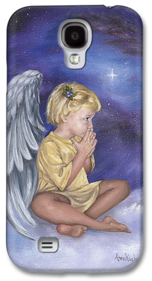 Christmas Galaxy S4 Case featuring the painting Praying Angel by Anne Kushnick