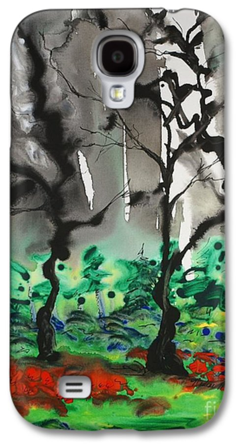 Forest Galaxy S4 Case featuring the painting Primary Forest by Nadine Rippelmeyer