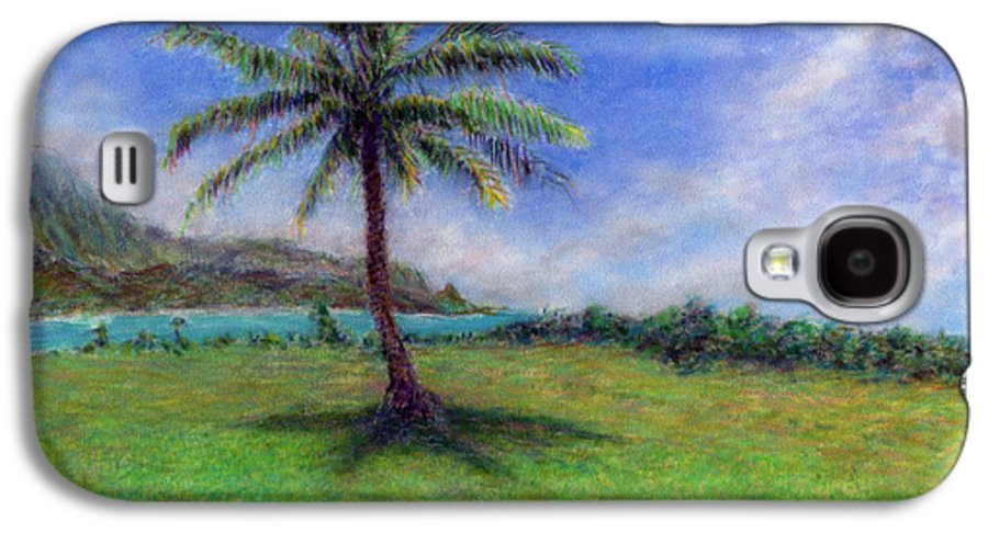 Rainbow Colors Pastel Galaxy S4 Case featuring the painting Princeville Palm by Kenneth Grzesik