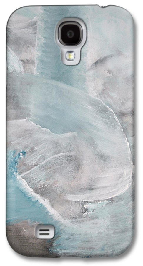 Abstract Acrylic Darkestartist Landscape Painting Waterfall Blue Water Galaxy S4 Case featuring the painting Private Waterfall by Darkest Artist