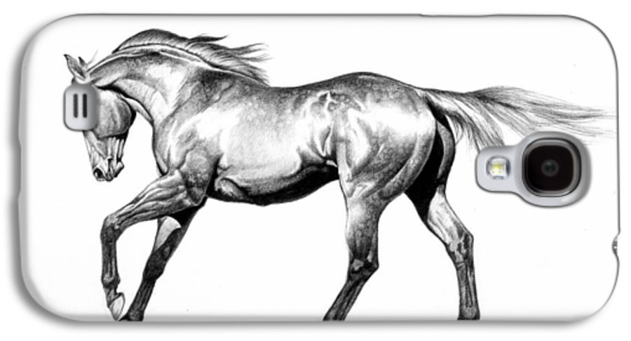 Thoroughbred Galaxy S4 Case featuring the drawing Proud by Howard Dubois