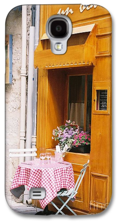 Cafe Galaxy S4 Case featuring the photograph Provence Cafe by Nadine Rippelmeyer