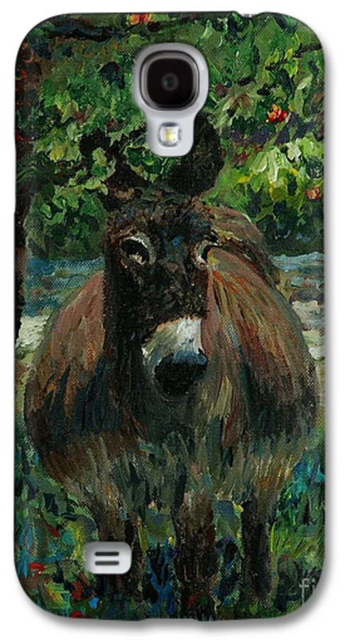 Donkey Galaxy S4 Case featuring the painting Provence Donkey by Nadine Rippelmeyer