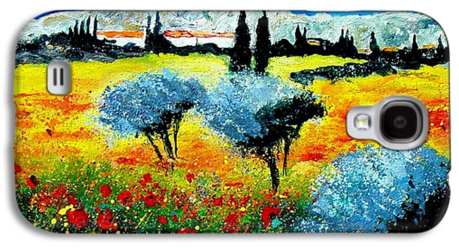 Poppies Galaxy S4 Case featuring the painting Provence by Pol Ledent