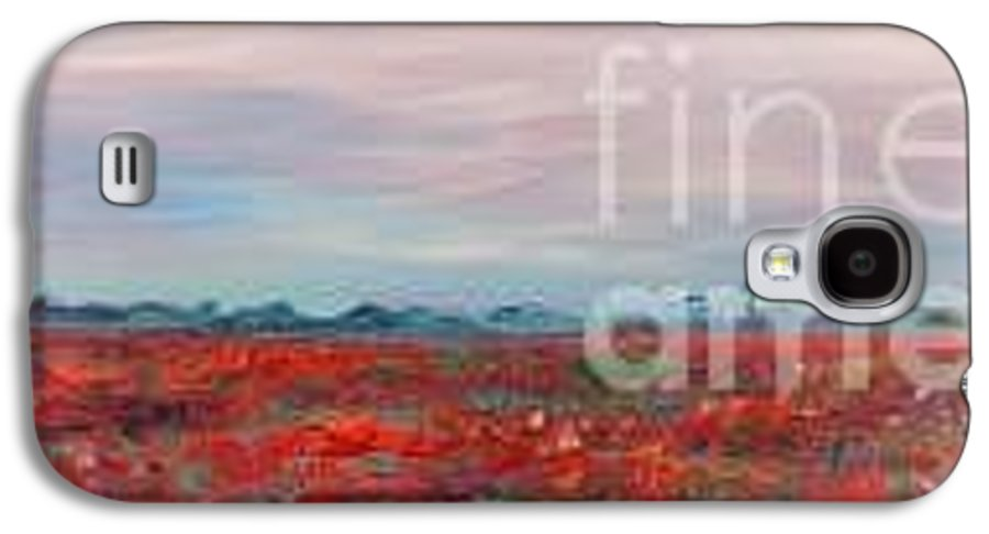 Poppies Galaxy S4 Case featuring the painting Provence Poppies by Nadine Rippelmeyer