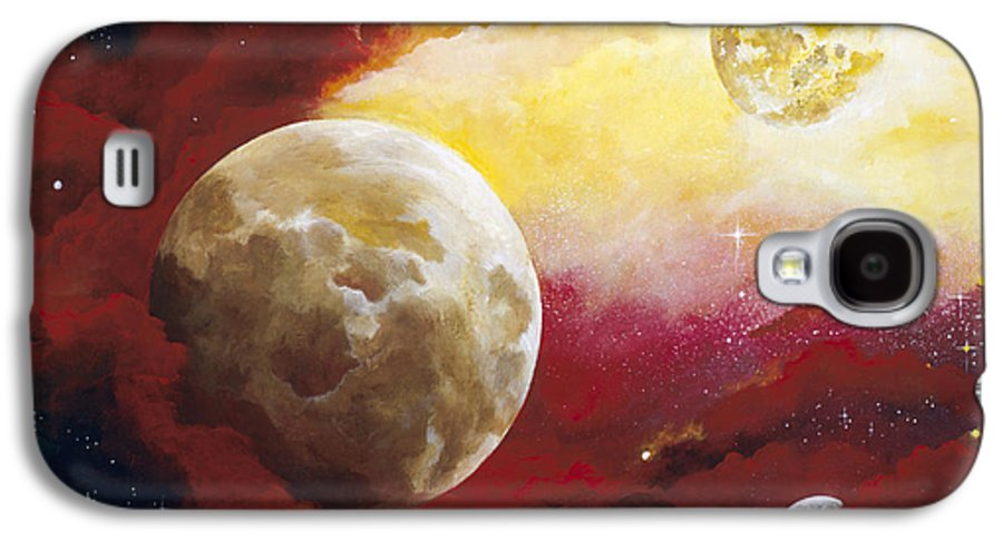 Space Galaxy S4 Case featuring the painting Psalm by Laura Swink