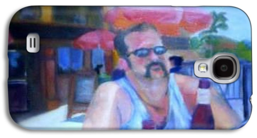 Daytona Galaxy S4 Case featuring the painting Pub by Sheila Mashaw