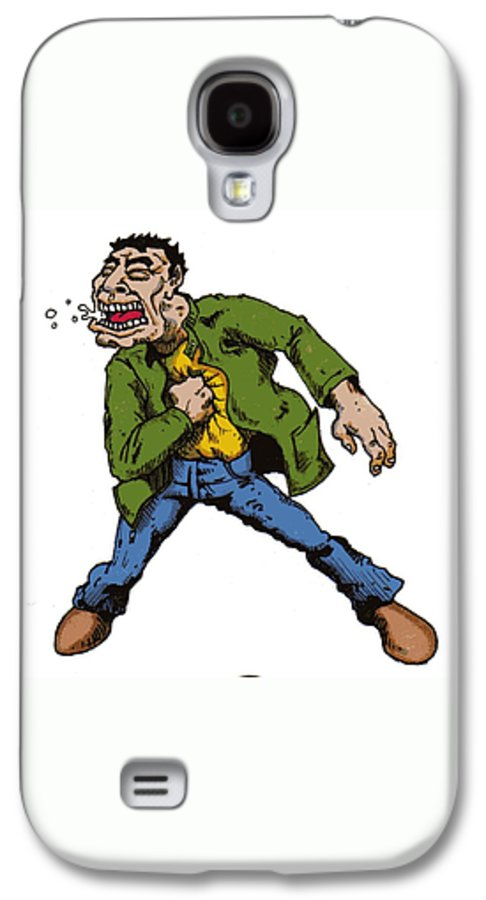 Illustration Galaxy S4 Case featuring the drawing Punch by Tobey Anderson