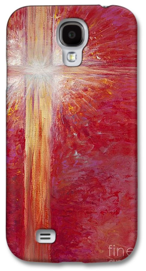 Light Galaxy S4 Case featuring the painting Pure Light by Nadine Rippelmeyer