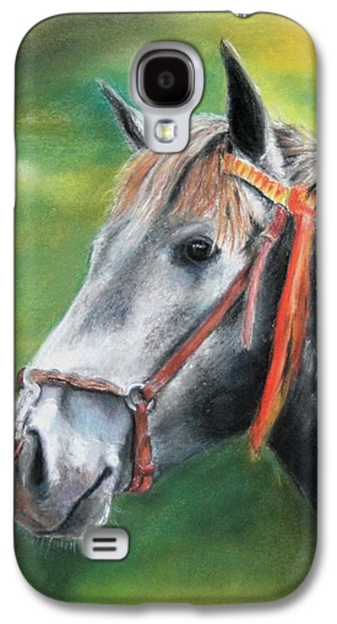 Horse Galaxy S4 Case featuring the painting Pure Spanish by Ceci Watson