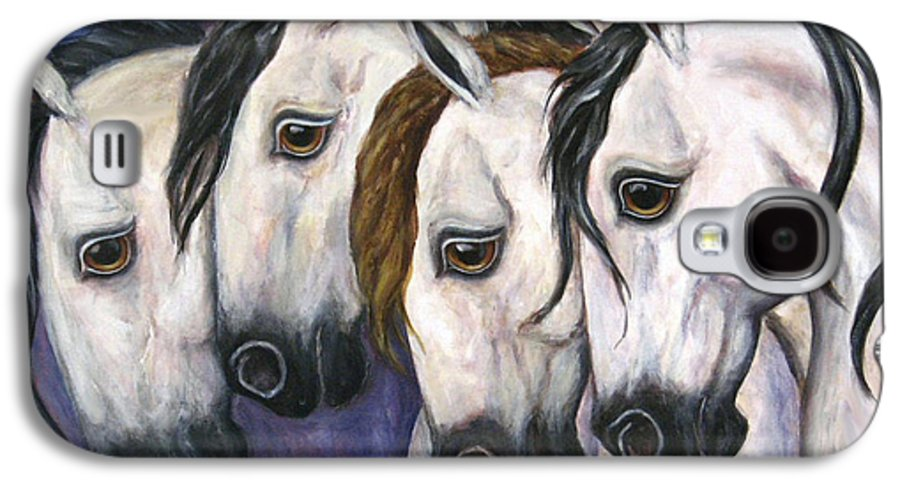 Horse Painting Galaxy S4 Case featuring the painting Purple Haze by Frances Gillotti