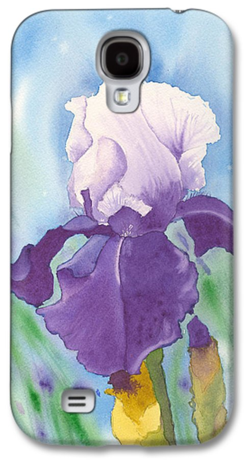 Iris Galaxy S4 Case featuring the painting Purple by Louise Magno