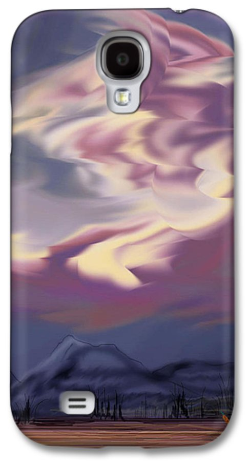 Clouds Galaxy S4 Case featuring the painting Purple Mountain Majesty by Anne Norskog