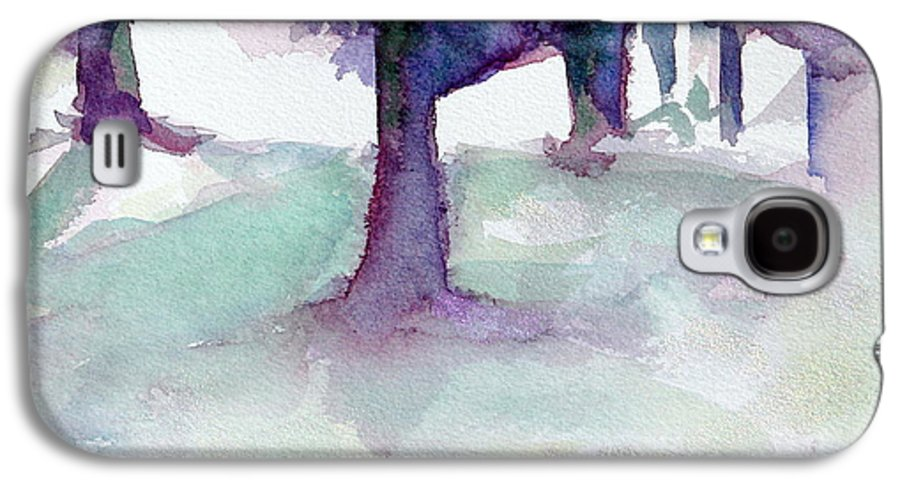 Landscape Galaxy S4 Case featuring the painting Purplescape II by Jan Bennicoff