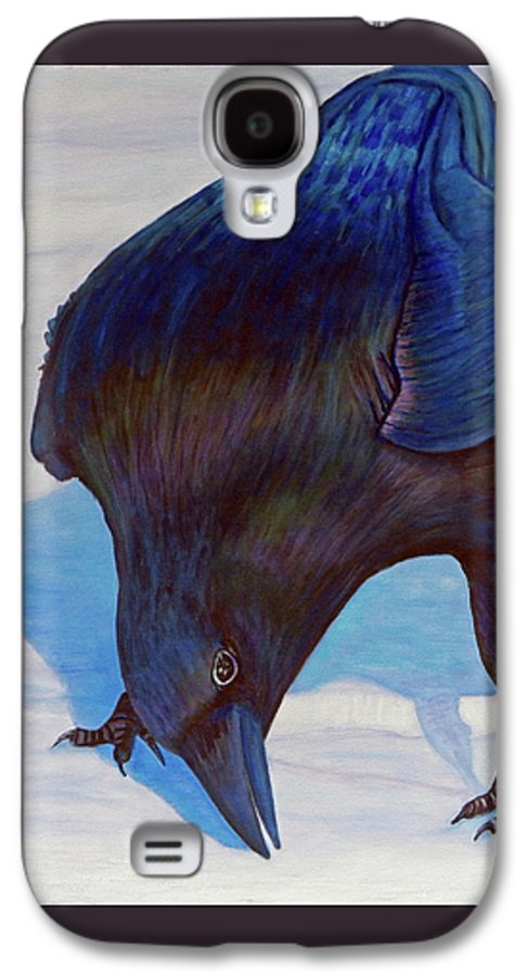 Raven Galaxy S4 Case featuring the painting Que Pasa by Brian Commerford