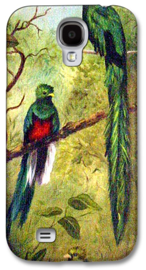 Landscape Galaxy S4 Case featuring the painting Quetzels by Anne Kushnick