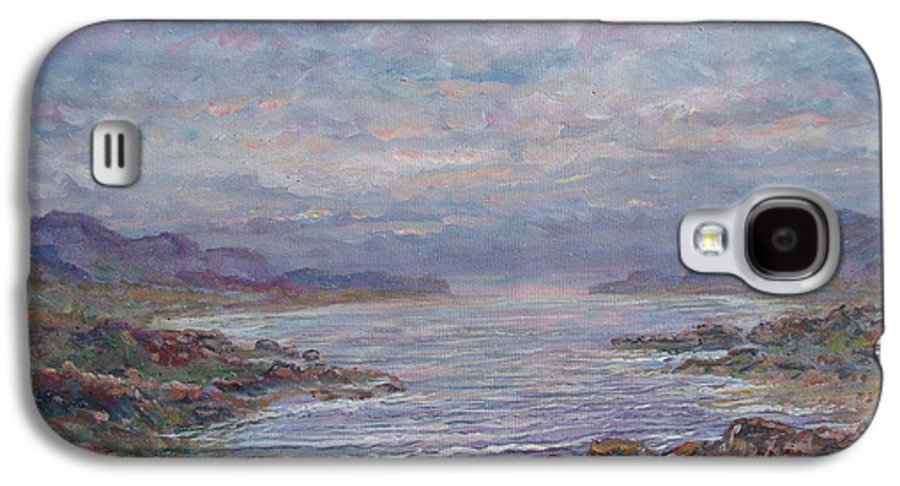 Painting Galaxy S4 Case featuring the painting Quiet Bay. by Leonard Holland