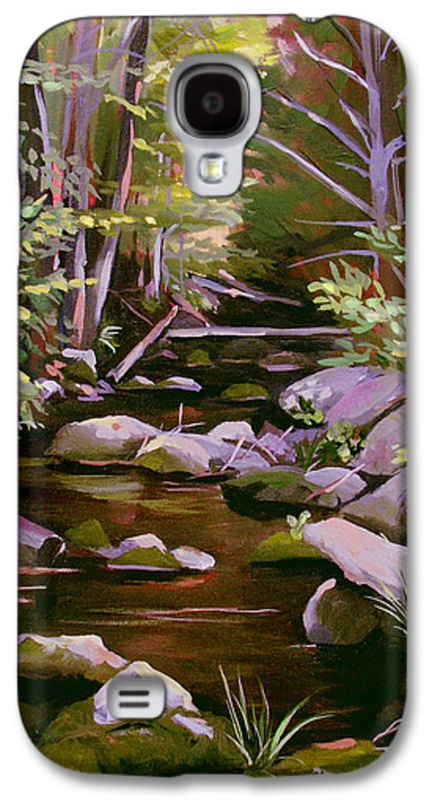 Peoples State Forest Galaxy S4 Case featuring the painting Quiet Brook by Nancy Griswold