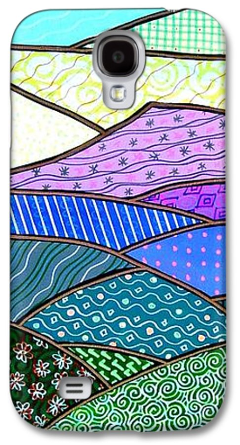 Mountain Galaxy S4 Case featuring the painting Quilted Mountain by Jim Harris