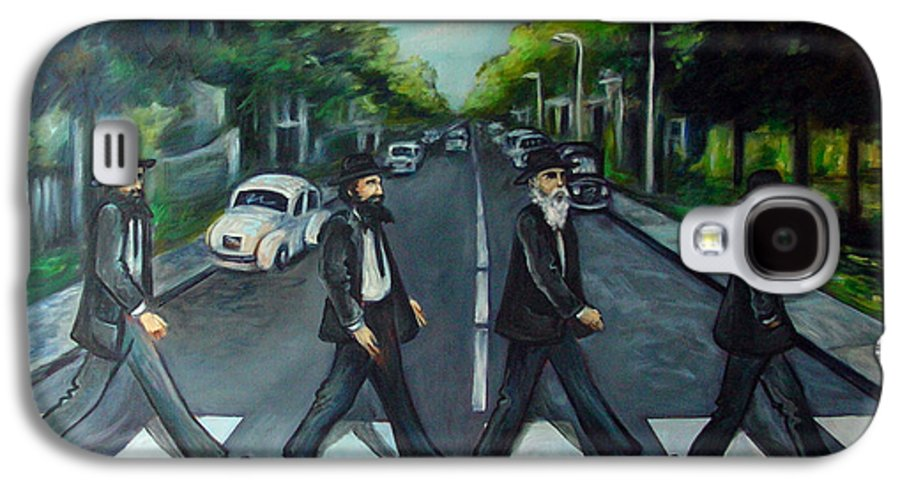 Surreal Galaxy S4 Case featuring the painting Rabbi Road by Valerie Vescovi