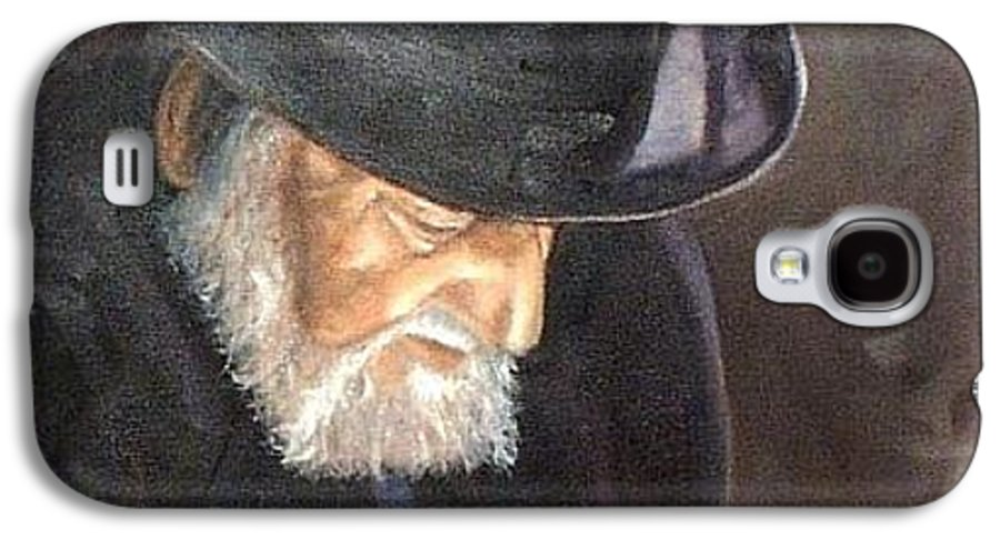 Portrait Galaxy S4 Case featuring the painting Rabbi by Toni Berry