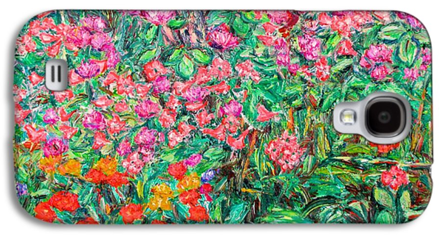 Kendall Kessler Galaxy S4 Case featuring the painting Radford Flower Garden by Kendall Kessler