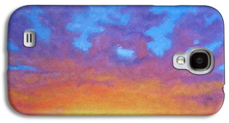Landscape Galaxy S4 Case featuring the painting Radiance by Brian Commerford