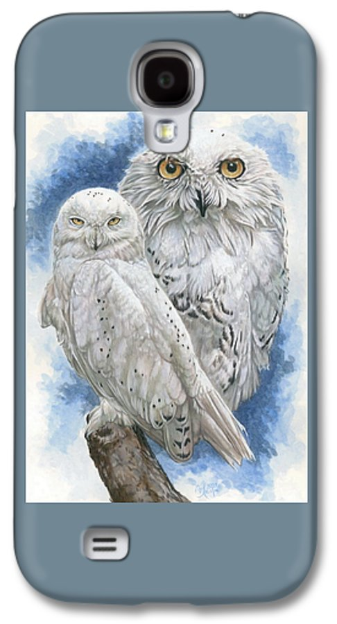 Snowy Owl Galaxy S4 Case featuring the mixed media Radiant by Barbara Keith