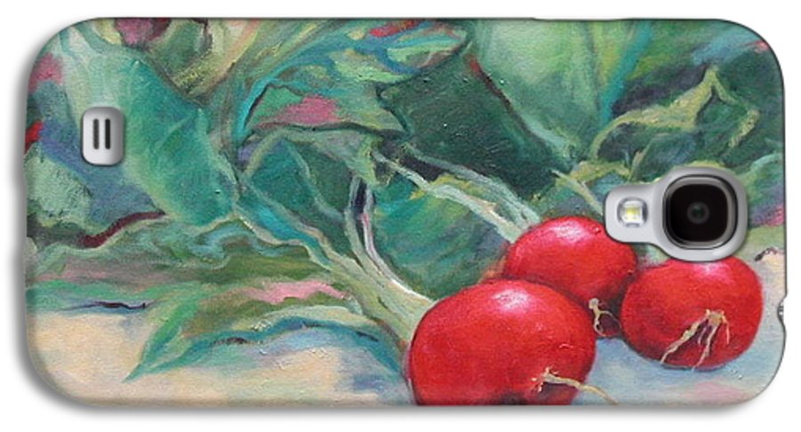 Radishes Galaxy S4 Case featuring the painting Radishes by Ginger Concepcion