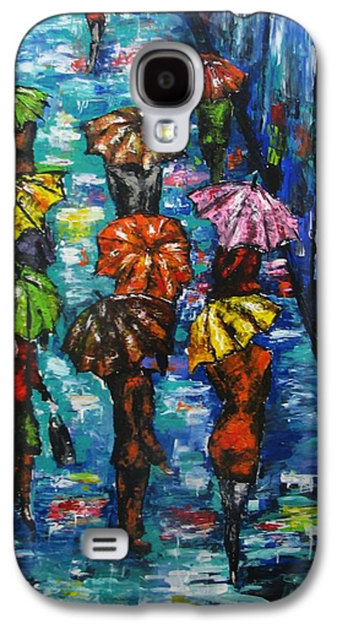 Rain Galaxy S4 Case featuring the painting Rain Fantasy Acrylic Painting by Natalja Picugina
