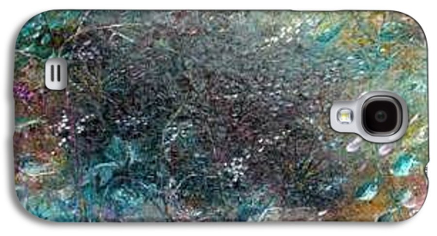 Original Abstract Painting Of Under The Sea Galaxy S4 Case featuring the painting Rainbow Reef by Karin Dawn Kelshall- Best
