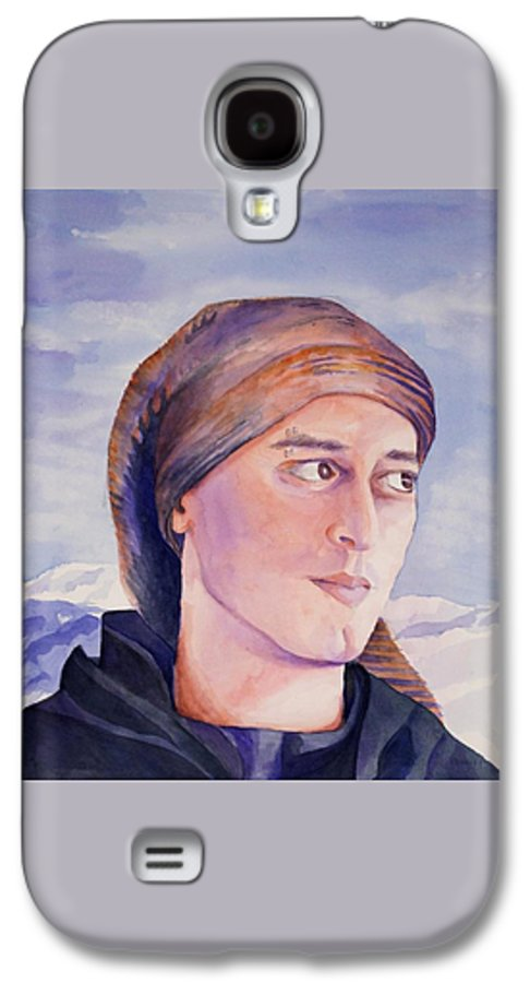 Man In Ski Cap Galaxy S4 Case featuring the painting Ram by Judy Swerlick