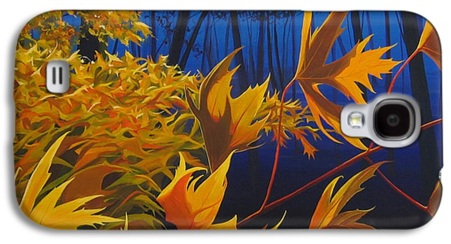 Autumn Leaves Galaxy S4 Case featuring the painting Raucous October by Hunter Jay
