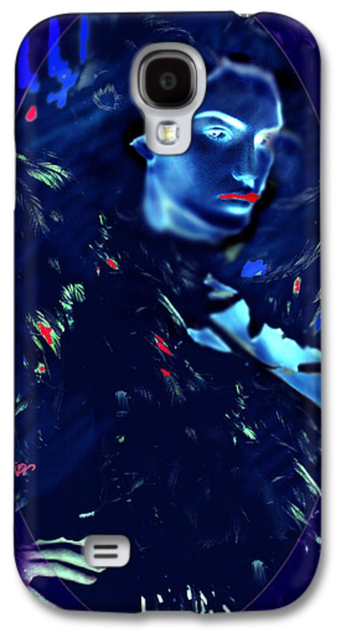 A Bizarre Evil Witch Flies With The Ravens Galaxy S4 Case featuring the digital art Raven Woman by Seth Weaver