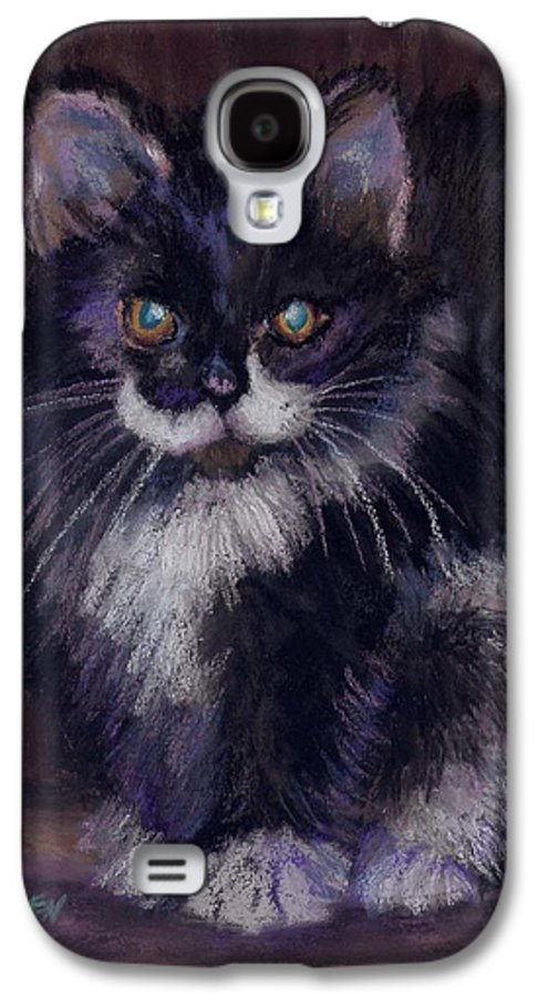 Kitten Galaxy S4 Case featuring the painting Ready For Trouble by Sharon E Allen