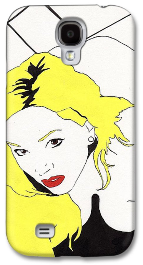 Nude Portrait Female Galaxy S4 Case featuring the drawing Rear Window by Stephen Panoushek
