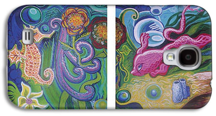 Reciprocal Liason Of The Sea Galaxy S4 Case featuring the painting Reciprocal Liason Of The Sea by Genevieve Esson