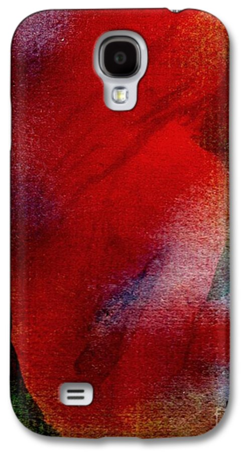 Nude Galaxy S4 Case featuring the painting Red Boudoir by Susan Kubes