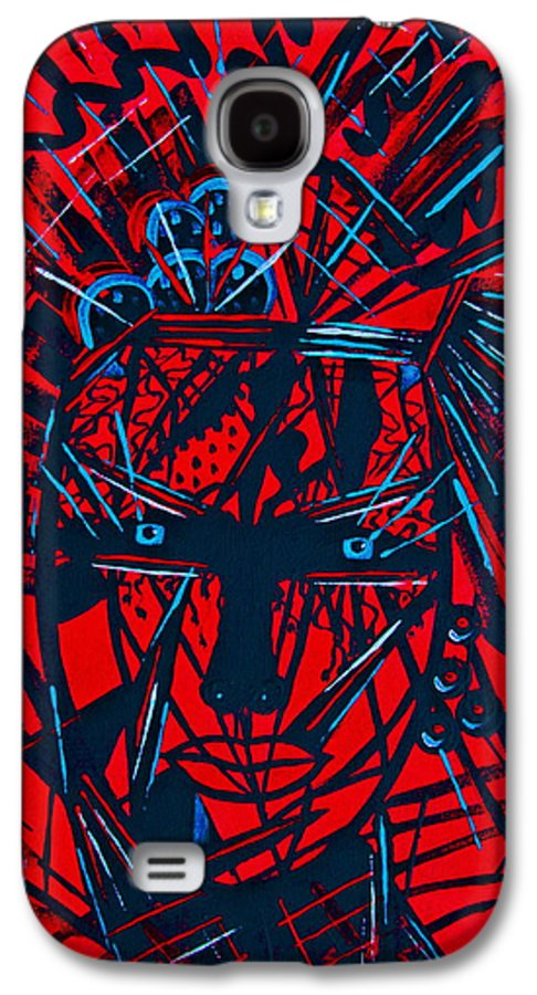 Abstract Galaxy S4 Case featuring the painting Red Exotica by Natalie Holland