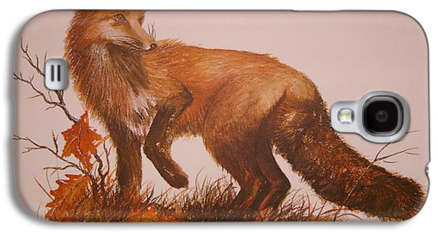 Nature Galaxy S4 Case featuring the painting Red Fox by Ben Kiger
