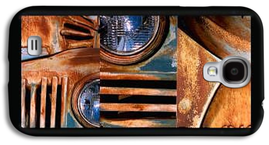 Abstract Photo Of Chevy Truck Galaxy S4 Case featuring the photograph Red Head On by Steve Karol